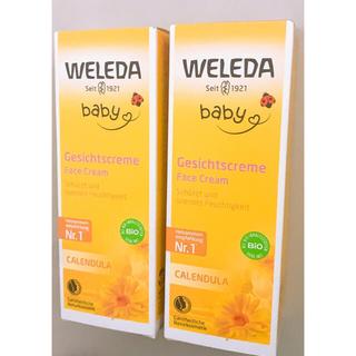 ヴェレダ(WELEDA)のWELEDA(ヴェレダ)カレンドラ ベビーフェイシャルクリーム 50mL 2個(ベビーローション)