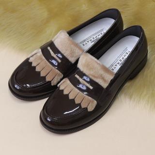 ハンター(HUNTER)のTEMPERATE FRITZ フリンジローファー型レインシューズ(ローファー/革靴)