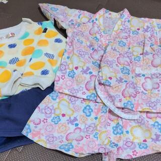 ディズニー(Disney)の子供服80   女の子80   甚平 ワンピース(甚平/浴衣)