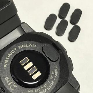 ガーミン(GARMIN)の黒3個 即購入可 高品質シリコン 充電ポート カバー GARMIN  ガーミン(ランニング/ジョギング)