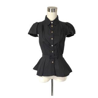 ルイヴィトン(LOUIS VUITTON)のLOUIS VUITTON ペプラムフリルとパフスリーブの美形シャツ(シャツ/ブラウス(半袖/袖なし))