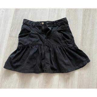 ザラキッズ(ZARA KIDS)の【最終お値下げ】ZARA girls ブラックデニムデザインスカート (スカート)