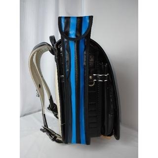 濃紺×黒ストライプ☆リコーダーケース耐水ラミネートマグネット仕上げハンドメイド(外出用品)