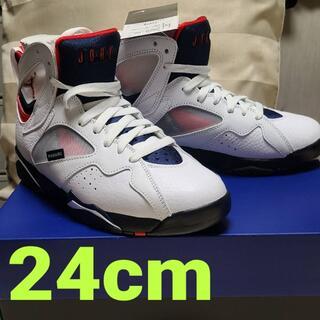 ナイキ(NIKE)の【希少サイズ 新品未使用】PSG ×NIKE AIR JORDAN 7 24cm(スニーカー)
