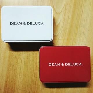 ディーンアンドデルーカ(DEAN & DELUCA)のDEAN&DELUCA ミニ缶 三色セット レッド ブラック ホワイト(小物入れ)