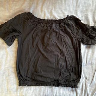エムコーエン(M.Cohen)のブラウス 黒 レディース(シャツ/ブラウス(半袖/袖なし))