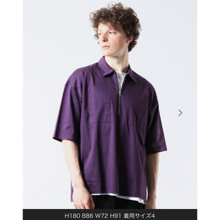MEN'S MELROSE - Master frame ビッグシルエットハーフZIPシャツ