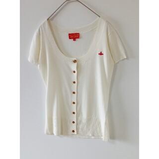 ヴィヴィアンウエストウッド(Vivienne Westwood)のヴィヴィアン サマーニット半袖 オーブ刺繍(カーディガン)
