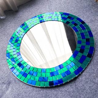 イケア(IKEA)のIKEA TRANBY ミラー 鏡 トランビー 円形 丸(壁掛けミラー)