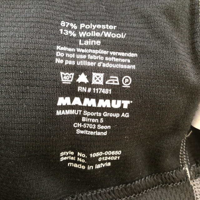 Mammut(マムート)の【新品未使用タグ付】マムート オールイヤー Tシャツ 日本サイズL スポーツ/アウトドアのアウトドア(登山用品)の商品写真
