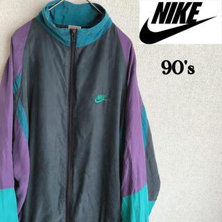 ナイキ(NIKE)の90s NIKE ナイロン ジャケット レトロカラー ナイキ 90's 古着(ナイロンジャケット)