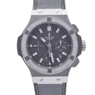 HUBLOT - ウブロ  ビックバン アールグレイ ベゼルダイヤ 腕時計