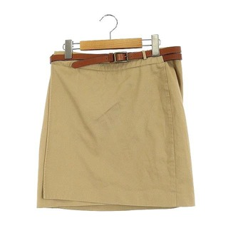 ラルフローレン(Ralph Lauren)のラルフローレン ラップスカート ミニ タイト ベルト付き 2 ベージュ(ミニスカート)