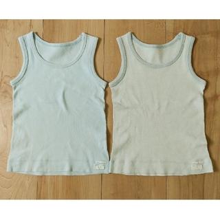 ムジルシリョウヒン(MUJI (無印良品))の無印良品 綿100%タンクトップ 80 2枚セット(肌着/下着)