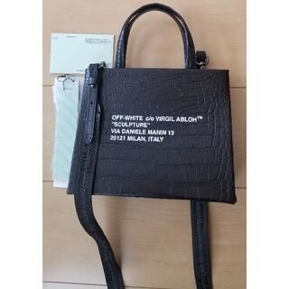 オフホワイト(OFF-WHITE)の美品 オフホワイト offwhite ショルダー ハンド バック bag 黒(ショルダーバッグ)