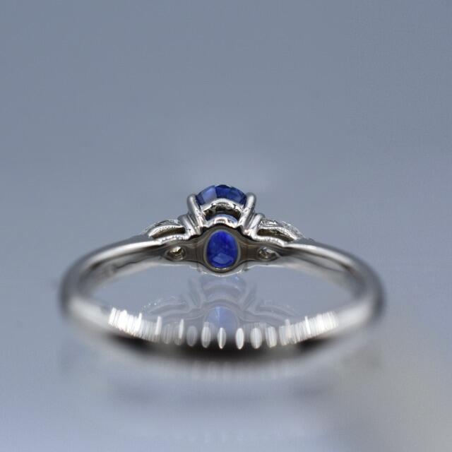 鮮やか❗️サファイア ダイヤモンド pt950 プラチナ リング レディースのアクセサリー(リング(指輪))の商品写真