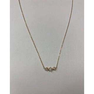 ココシュニック(COCOSHNIK)のココシュニック COCOSHNIK 3連ダイヤモンドネックレス 10K(ネックレス)