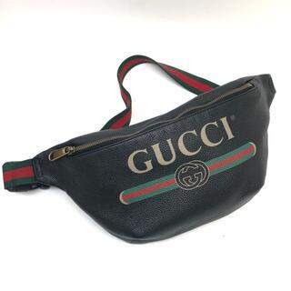 グッチ(Gucci)のグッチ 493869 ヴィンテージロゴプリント ウエストバッグ カーフレザー(ウエストポーチ)
