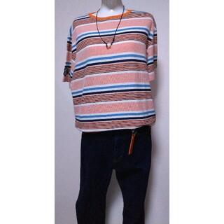 シナコバ(SINACOVA)のLUPO DI MARE SINACOVA 即完売ボーダーT オレンジ(Tシャツ/カットソー(半袖/袖なし))