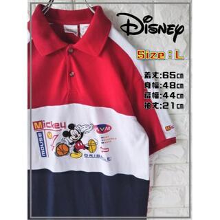 ディズニー(Disney)のビンテージ ミッキー刺繍ロゴ ポロシャツ ディズニーストア SS1956(ポロシャツ)