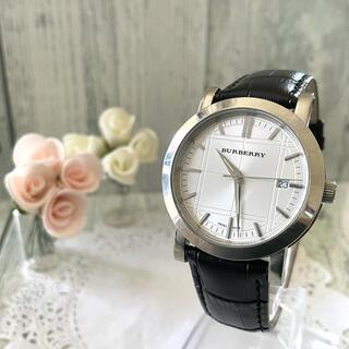 バーバリー(BURBERRY)の【動作OK】BURBERRY バーバリー BU1350 腕時計 シルバー メンズ(腕時計(アナログ))