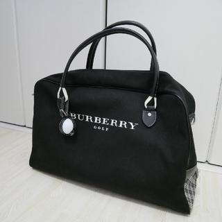 バーバリー(BURBERRY)の週末セール【美品】 バーバリー ゴルフ ボストンバッグ 黒 チェック(ボストンバッグ)
