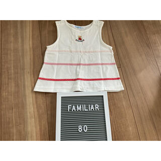 ファミリア(familiar)のファミリア ノースリーブ 80(タンクトップ/キャミソール)