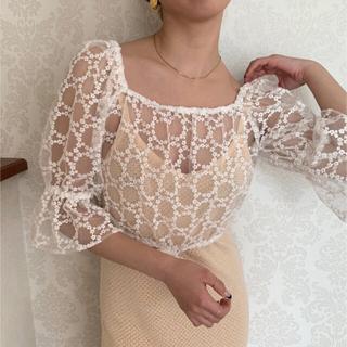 ベリーブレイン(Verybrain)のVB-133 Sheer string blouse verybrain(シャツ/ブラウス(長袖/七分))
