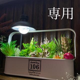 えとみさんおまとめです♪A39  フェイクグリーンプランター LED付き(プランター)