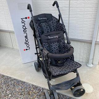 日本育児 - キンダーワゴン ブラック 2人乗り kinder wagon