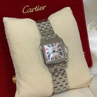 カルティエ(Cartier)の極美品✨カルティエサントスドゥモワゼル限定ピンクシェル💕SM (腕時計)