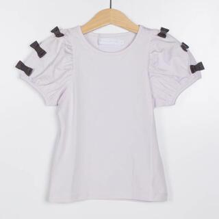 タルティーヌ エ ショコラ(Tartine et Chocolat)のタルティーヌエショコラ⭐︎袖リボンTシャツ(Tシャツ/カットソー)