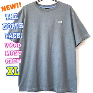ザノースフェイス(THE NORTH FACE)の厚生地 刺繍ロゴ ♪ ノースフェイス ヘビーウェイト Tシャツ グレー XL(Tシャツ/カットソー(半袖/袖なし))