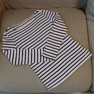 MUJI (無印良品) - 無印良品 太番手 ボーダー Tシャツ