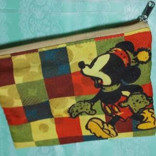 ミッキーマウス(ミッキーマウス)のヴィンテージポーチ長方形(ポーチ)