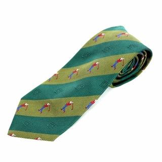 ロエベ(LOEWE)のロエベ LOEWE ネクタイ 総柄 刺繍 シルク 絹 緑(ネクタイ)