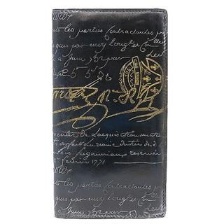 ベルルッティ(Berluti)のベルルッティ  長財布  エベネ スクリット二つ折り長財布   ブルー(長財布)