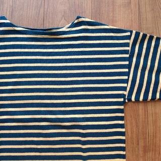 マリメッコ(marimekko)のMサイズ AUTHENTIC MARINE マリン ボーダー 柄 Tシャツ 北欧(Tシャツ/カットソー(七分/長袖))