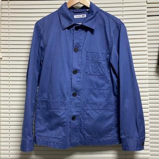 ユニクロ(UNIQLO)のユニクロ JWアンダーソン フレンチワークジャケット ブルー コットン(カバーオール)