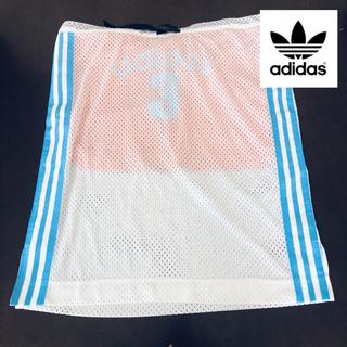 アディダス(adidas)のアディダス adidas スカート スポーツウェア メッシュ 白(ひざ丈スカート)