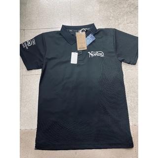 ノートン(Norton)のNorton ドライメッシュ プリント 刺繍 ポロシャツ 黒 M(ポロシャツ)