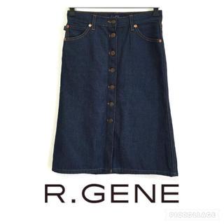 アールジーンズ(R JEANZ)の新品☆earl jean アールジーン  デニム巻きスカート アメリカ製 S-M(ロングスカート)