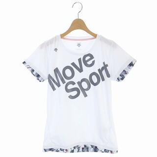 デサント(DESCENTE)のデサント DESCENTE スポーツTシャツ M 白 グレー ホワイト(その他)