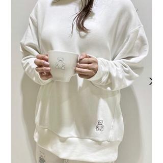 ジェラートピケ(gelato pique)のジェラートピケ【kotoka izumi】ベア刺繍プルオーバー オフホワイト(トレーナー/スウェット)