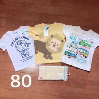 新品!80サイズ 4点セット 半袖Tシャツ3枚とユニクロレギンス1枚