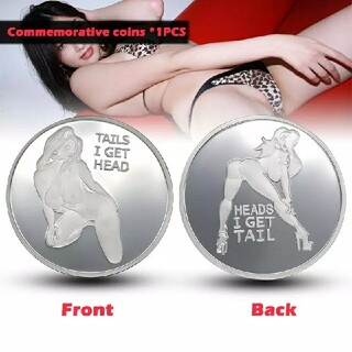Hot Sexy Woman Coins シルバーセクシーコイン‼️(その他)