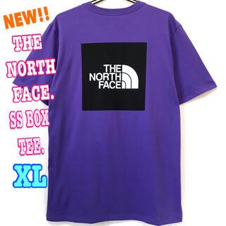ザノースフェイス(THE NORTH FACE)のユニセックス ♪ 新品 ノースフェイス  BOX Tシャツ パープル 紫 XL (Tシャツ/カットソー(半袖/袖なし))