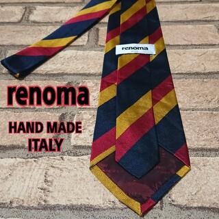 レノマ(RENOMA)のrenoma レノマ レジメンタル ストライプ メンズ ネクタイ(ネクタイ)