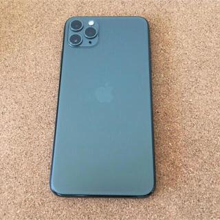 アップル(Apple)の【付属品有】iPhone11promax 64gb ミッドナイトグリーン SB(スマートフォン本体)