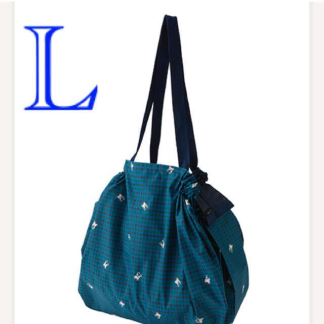 familiar(ファミリア)のファミリア シュパット L エコバッグ  青チェック レディースのバッグ(エコバッグ)の商品写真